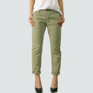 J Brand Garrison Green Inez Slim Fit Chino Pants